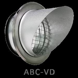 ABC VD 100mm med fläns Zinkgrå