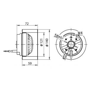 Fläktmotor R2E140-AM28-12