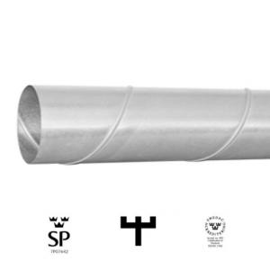 Ventilationsrör 125 L 0,6 m (Spirorör)