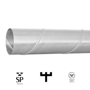 Ventilationsrör 100 L 0,6 m (Spirorör)
