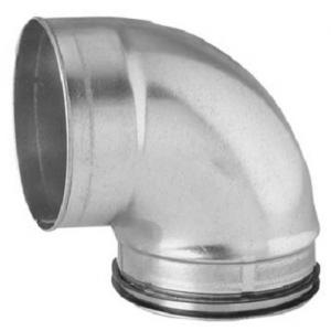 Kortböj 90 125mm Muff/Nippel