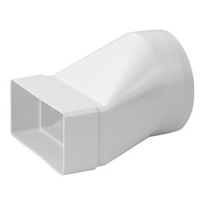 Övergång Rektangulär 55x110 till 100mm Plast KSD2