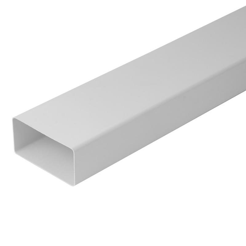 Plastkanal 110x55 Rektangulär Plast 1M