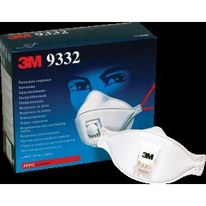 Ansiktsmask, andningsskydd, munskydd  FFP3 med ventil 10-pack 3M