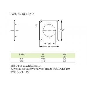 KGEZ-12-125 Vit Plåt med...