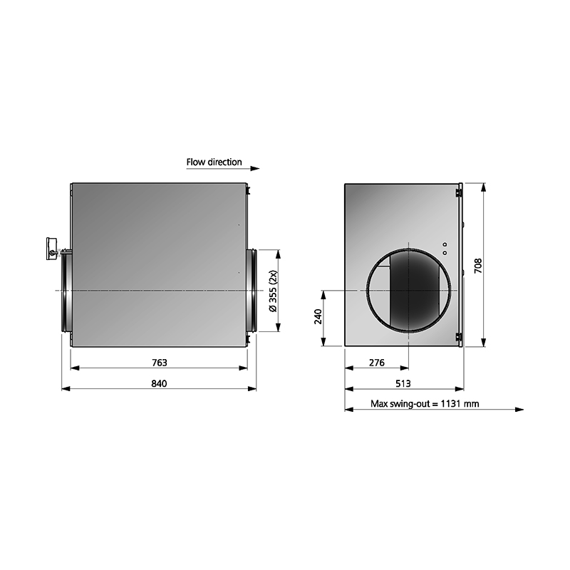 Östberg IRB 355 D3 ErP dimensioner mått