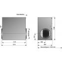 Östberg IRB 500 B3 ErP dimensioner mått