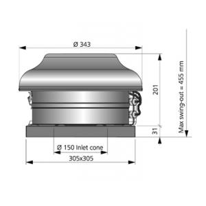 TKS 300 C AC Måttskiss